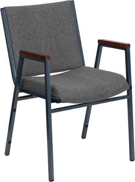 Flash Furniture Hercules Heavy Duty 3 Inch Gray Upholstered Stack Arms Chair FLF-XU-60154-GY-GG