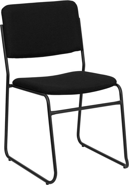 Flash Furniture Hercules High Density Black Fabric Stacking Chair FLF-XU-8700-BLK-B-30-GG