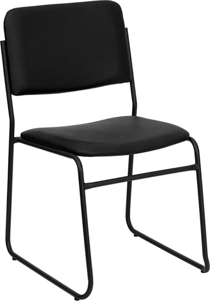 Flash Furniture Hercules High Density Black Vinyl Stacking Chair FLF-XU-8700-BLK-B-VYL-30-GG