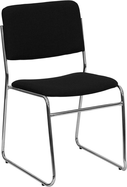 Flash Furniture Hercules Black Fabric High Density Stacking Chair FLF-XU-8700-CHR-B-30-GG