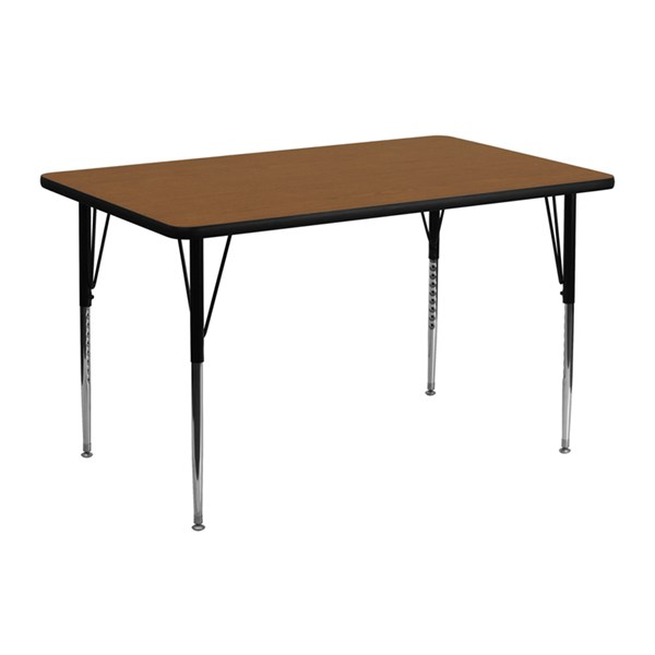 Flash Furniture 24 X 48 Activity Tables with Laminate Top FLF-XU-A2448-REC-H-A-GG-KDSK-VAR