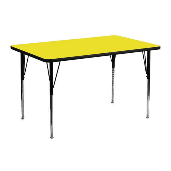 Flash Furniture 24 X 48 Activity Table with Yellow Laminate Top FLF-XU-A2448-REC-YEL-H-A-GG