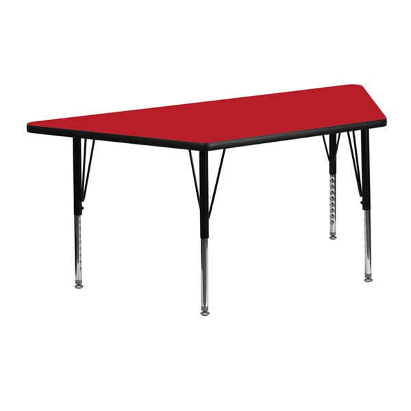 Flash Furniture Trapezoid Activity Table with Red Top and Pre-School Legs FLF-XU-A2448-TRAP-RED-H-P-GG