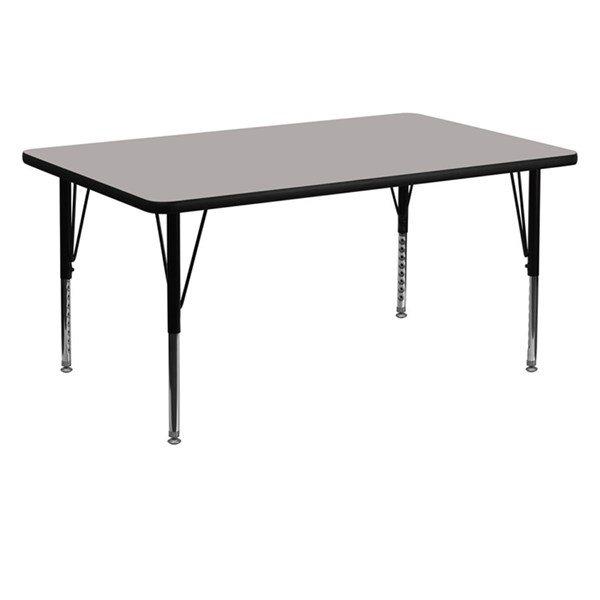 30 W X 60 L Rectangular Activity Table W/Grey Top & Pre-School Legs FLF-XU-A3060-REC-GY-H-P-GG