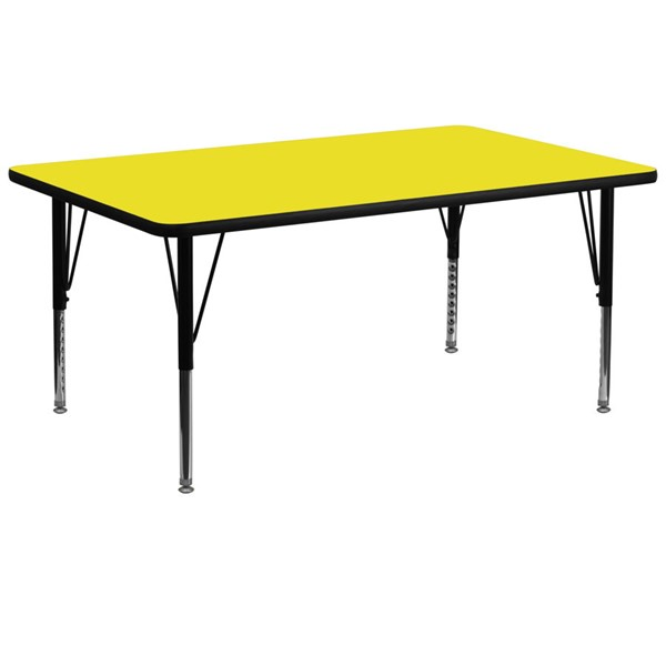 Flash Furniture Rectangular Activity Table with Yellow Laminate Top and Pre-School Legs FLF-XU-A3072-REC-YEL-H-P-GG