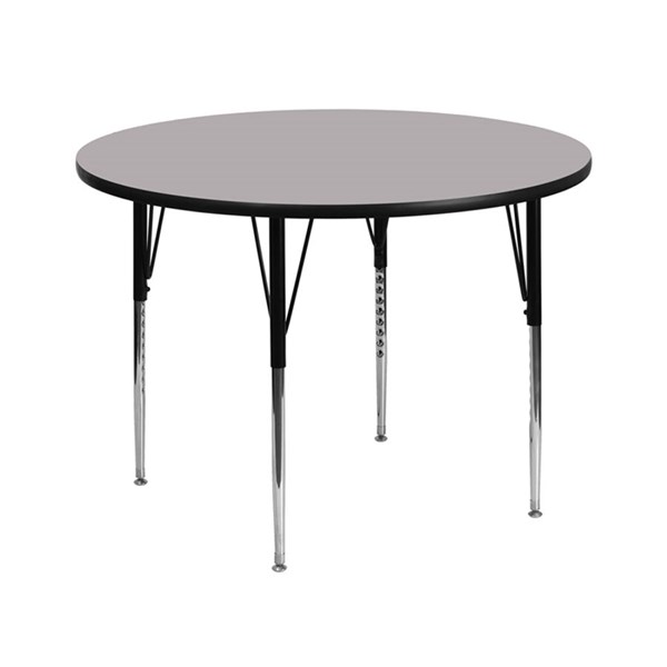 Flash Furniture 42 Inch Round Activity Tables with Thermal Fused Top and Adjustable Legs FLF-XU-A42-RND-T-A-GG-VAR