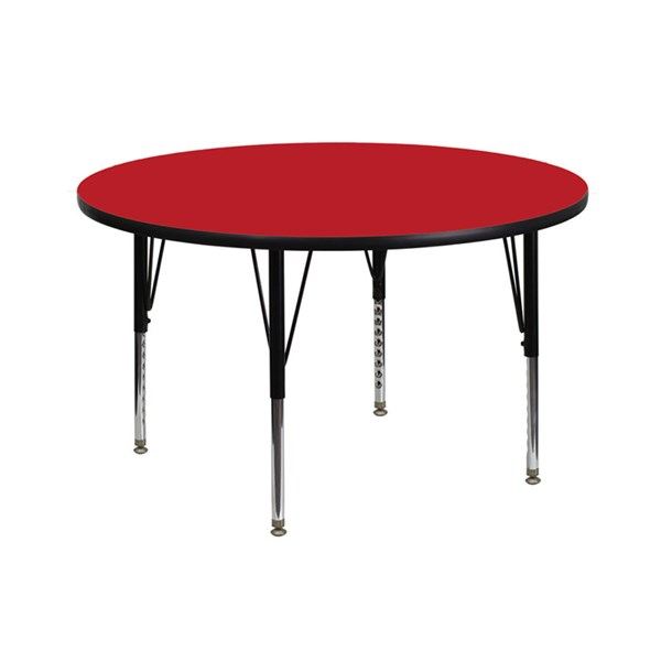 42 Inch Round Activity Table W/Red Top & Pre-School Legs FLF-XU-A42-RND-RED-H-P-GG