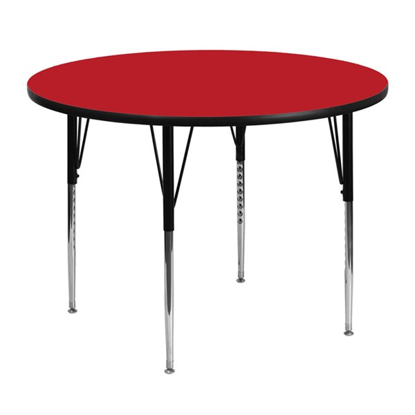 48 Inch Round Activity Tables W/1.25 Inch High Pressure Laminate Top FLF-XU-A48-RND-H-A-GG-VAR