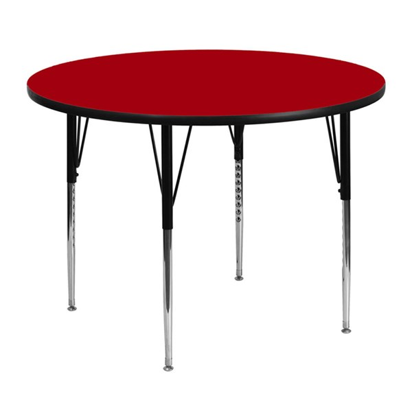 Flash Furniture Wood Metal Round Adjustable Legs Activity Tables FLF-XU-A48-RND-T-A-GG-VAR