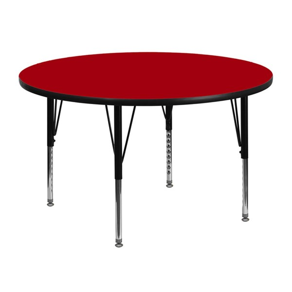 Flash Furniture 48 Inch Round Activity Tables with Thermal Fused Laminate Top FLF-XU-A48-RND-T-P-GG-VAR
