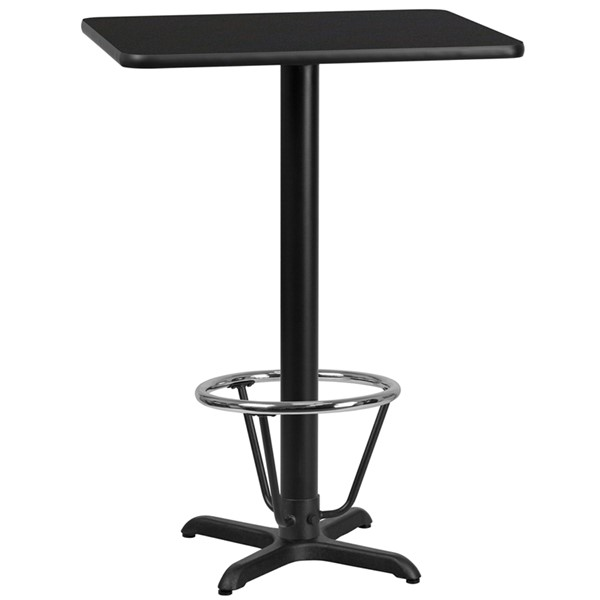 Flash Furniture Black 24 x 30 Laminate Table FLF-XU-BLKTB-2430-T2222B-3CFR-GG