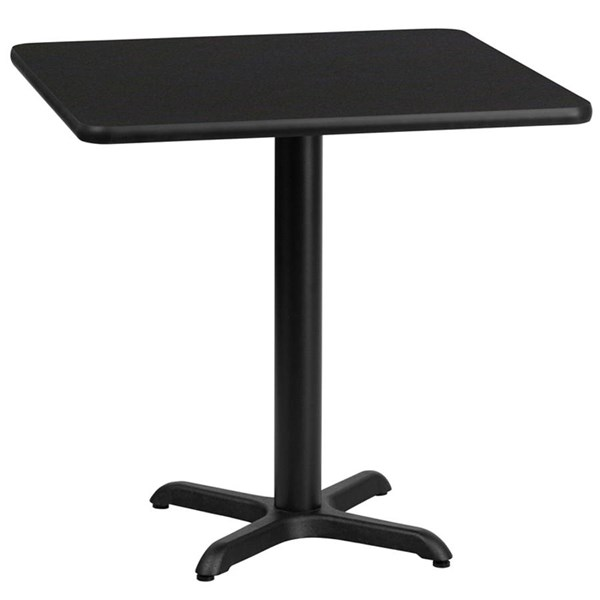 Flash Furniture 30 Inch Square Black Laminate Table Top with 22X22 Table Base FLF-XU-BLKTB-3030-T2222-GG