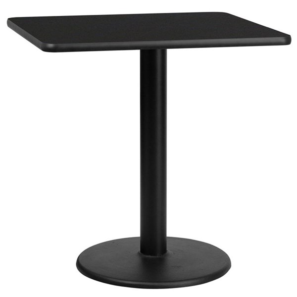 Flash Furniture 30 Inch Laminate Table Top with Table Height Base FLF-XU-3030-TR18-GG-DT-VAR