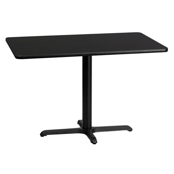 30 x 45 Black Laminate Table Top w/22 x 30 Table Height Base FLF-XU-BLKTB-3045-T2230-GG