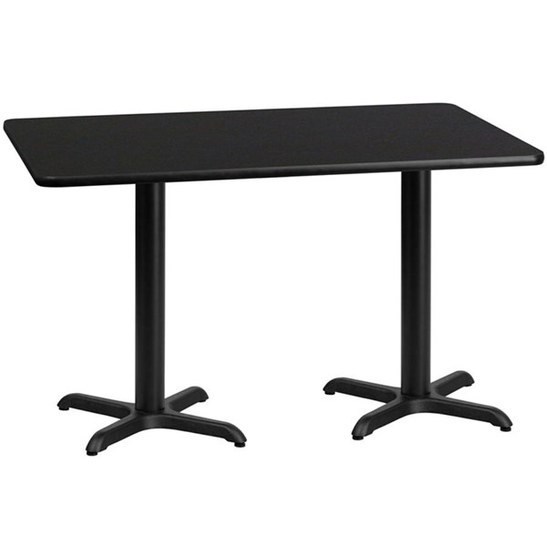Flash Furniture 30 X 60 Laminate Table Top with 22 X 22 Table Bases FLF-XU-3060-T2222-GG-DT-VAR