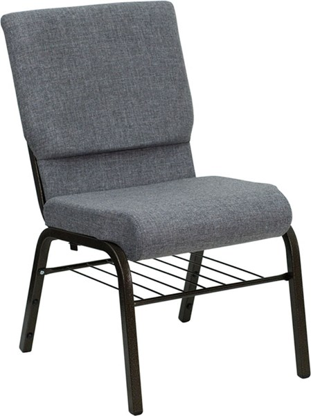 Flash Furniture Hercules 18.5 Inch Gray Fabric Church Chairs FLF-XU-CH-60096-BEIJING-GY-GG-VAR