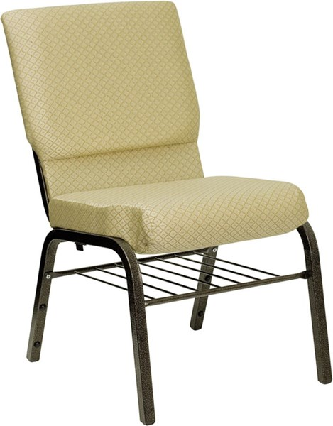 Hercules Fabric Metal Patterned Church Chairs FLF-XU-CH-60096-BAS-GG-VAR