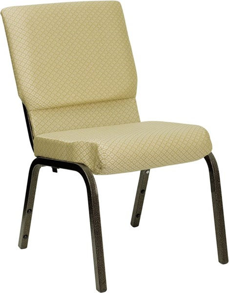 Flash Furniture Hercules Beige Patterned Stacking Church Chair FLF-XU-CH-60096-BGE-GG