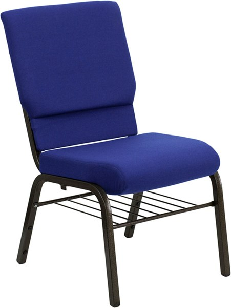 Flash Furniture Hercules 18.5 Inch Wide Navy Blue Fabric Church Chair FLF-XU-CH-60096-NVY-BAS-GG