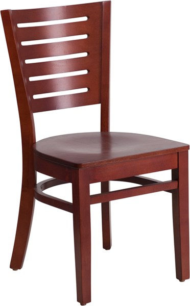 Darby Series Slat Back Wooden Restaurant Chair FLF-XU-DG-W0108-GG-DC-VAR