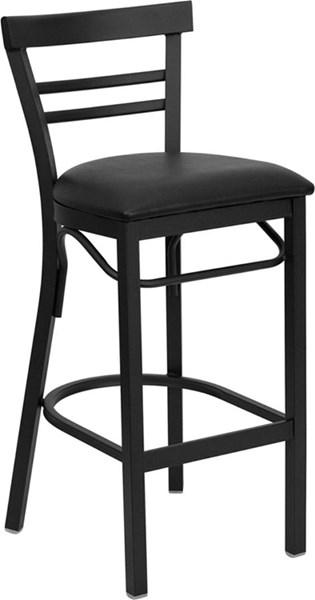 Flash Furniture Hercules Black Restaurant Bar Stool FLF-XU-DG6R9BLAD-BAR-BLKV-GG