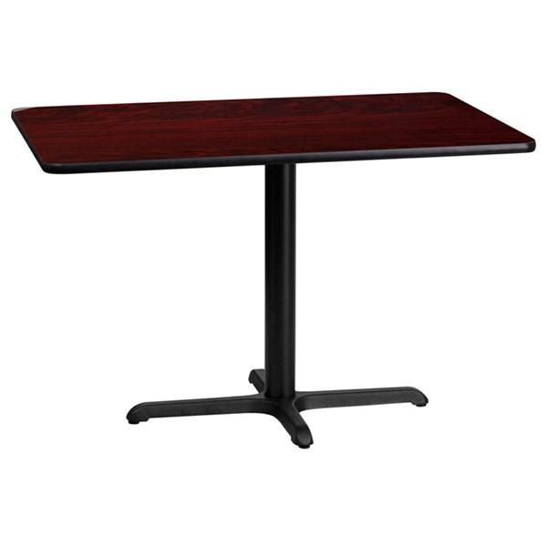 Flash Furniture 24 X 42 Mahogany Laminate Table Top with 22 X 30 Table Base FLF-XU-MAHTB-2442-T2230-GG