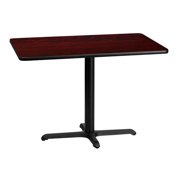 Flash Furniture 30 X 42 Mahogany Laminate Table Top with 22 X 30 Table Base FLF-XU-MAHTB-3042-T2230-GG