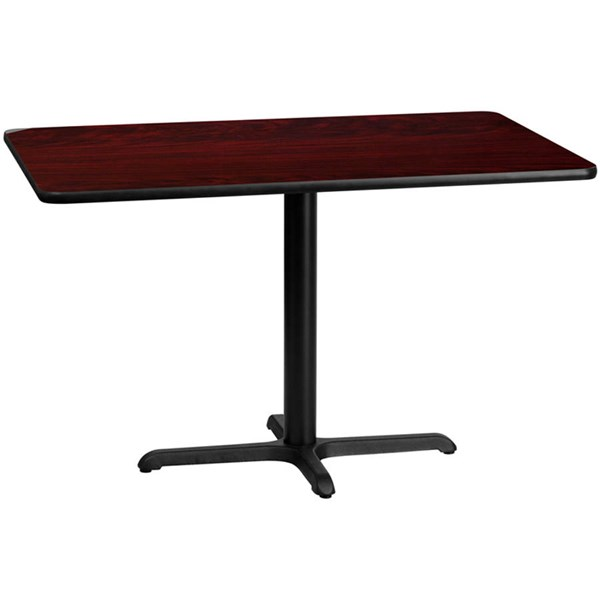 Flash Furniture 30 X 48 Mahogany Laminate Table Top with 22 X 30 Table Base FLF-XU-MAHTB-3048-T2230-GG