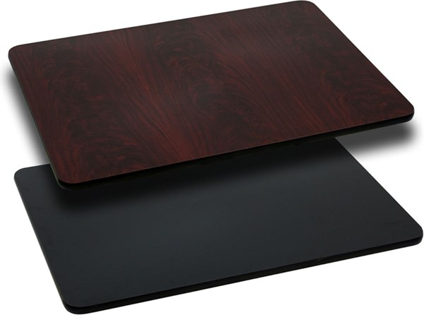 30 W X 48 L Rectangular Table Top W/Black Or Mahogany Laminate Top FLF-XU-MBT-3048-GG