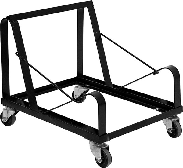 HERCULES Series Black Steel Sled Base Stack Chair Dolly FLF-XU-MC168-DOLLY-GG
