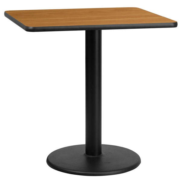Flash Furniture 30 Inch Square Natural Laminate Table Top with Table H Base FLF-XU-NATTB-3030-TR18-GG