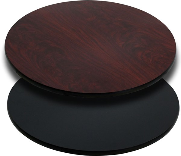 24 Inch Round Table Top W/Black Or Mahogany Reversible Laminate Top FLF-XU-RD-24-MBT-GG