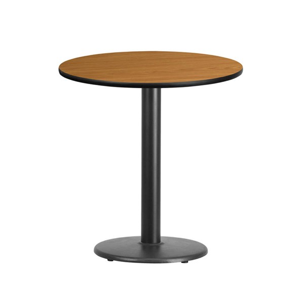 Flash Furniture 24 Inch Round Natural Laminate Table Top with 18 Inch Round Table Base FLF-XU-RD-24-NATTB-TR18-GG