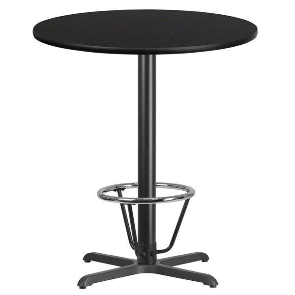 Flash Furniture 36 Round Laminate Table FLF-XURD36T3030B-3CFRGGDTV1