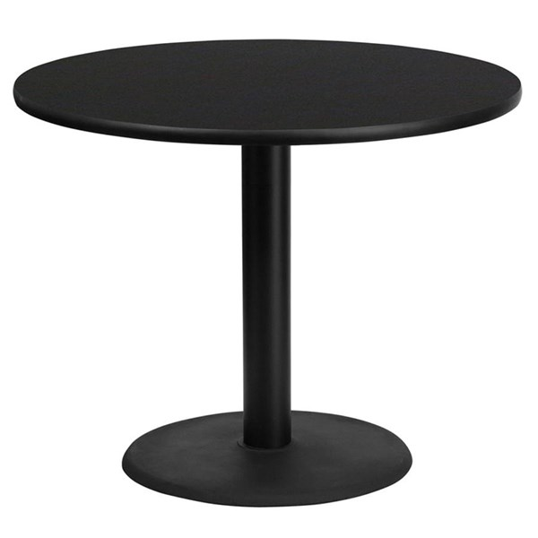 Flash Furniture 36 Inch Round Table Top with Table Height Base FLF-XU-RD-36-TR24-GG-DT-VAR