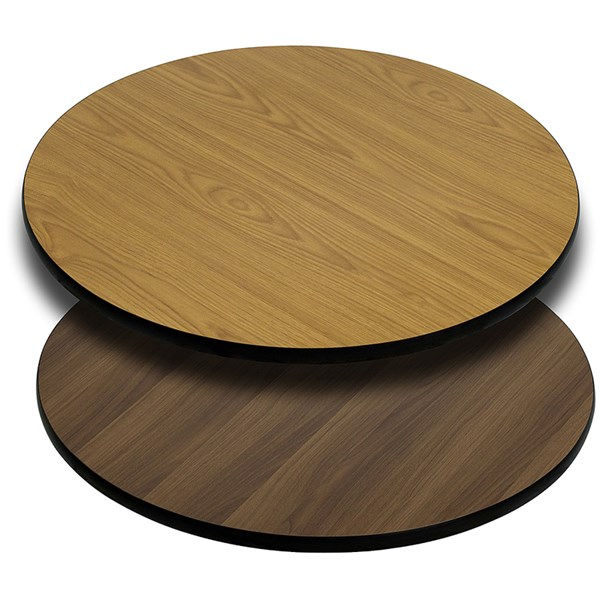 42 Inch Round Table Top With Natural Or Walnut Reversible Laminate Top FLF-XU-RD-42-WNT-GG