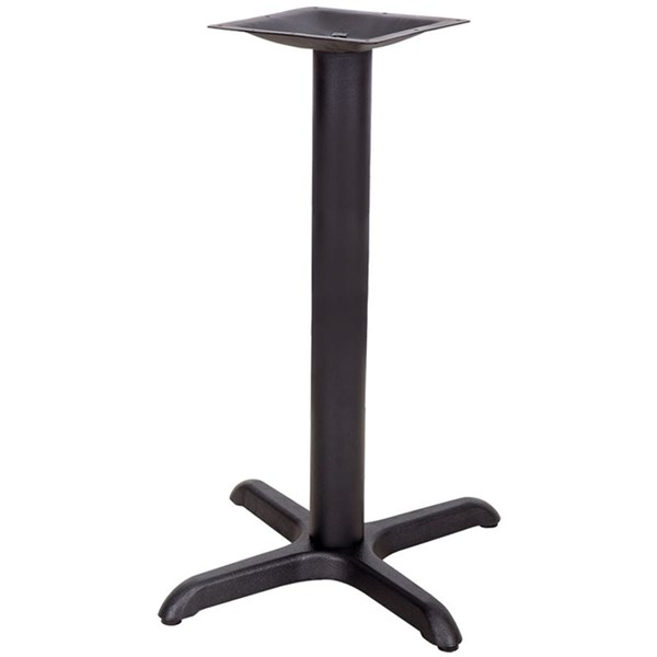 22 L X 22 W Restaurant Table X-Base W/3 Inch Dia. Table Height Column FLF-XU-T2222-GG