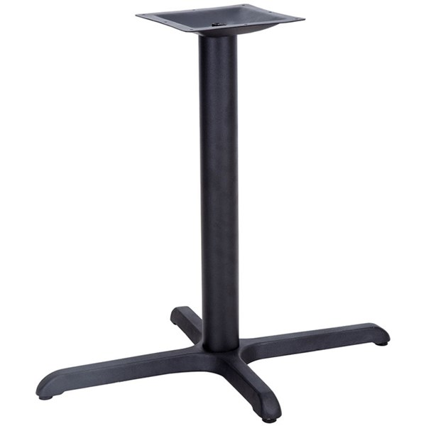 22 W X 30 L Restaurant Table X-Base W/3 Inch Dia. Table Height Column FLF-XU-T2230-GG