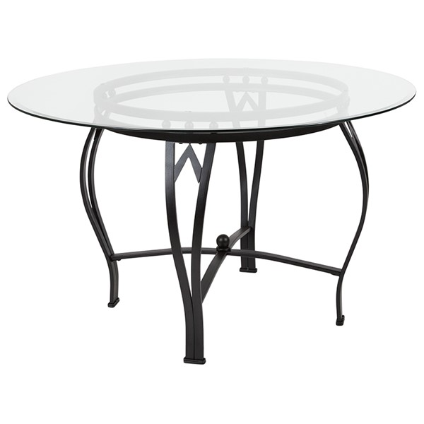 Flash Furniture Syracuse 48 Round Glass Table FLF-XU-TBG-10-GG-DT-VAR3