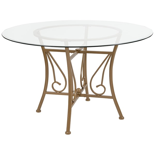 Flash Furniture Princeton 48 Round Glass Table FLF-XU-TBG-13-GG-DT-VAR3