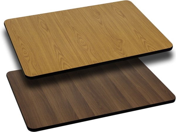 30 W X 42 L Rectangular Table Top W/Natural Or Walnut Laminate Top FLF-XU-WNT-3042-GG