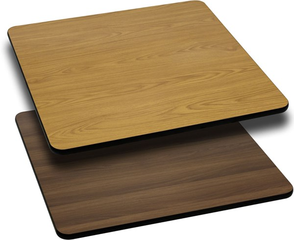 36 Inch Square Table Top W/Natural Or Walnut Reversible Laminate Top FLF-XU-WNT-3636-GG