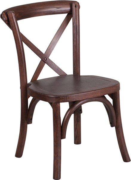 Flash Furniture Hercules Mahogany Cross Chair FLF-XU-X-MAH-KID-GG