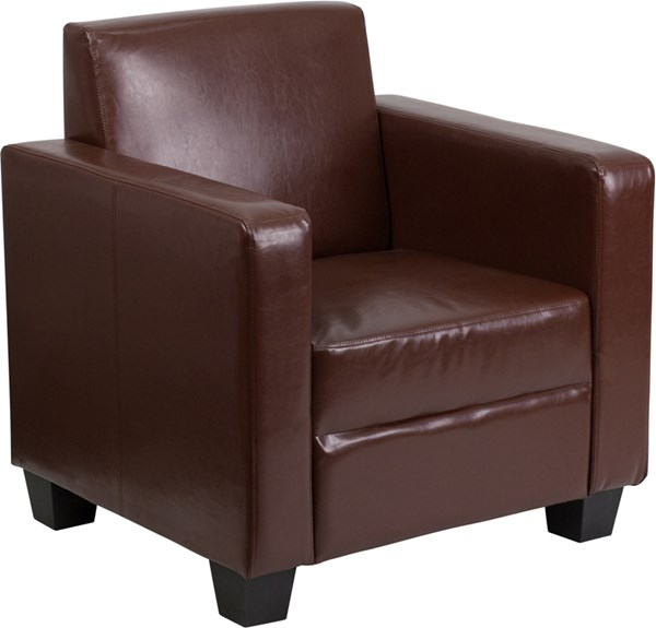 Grand Series FedExable Brown Leather Chair FLF-Y-H902-1-BN-LEA-GG