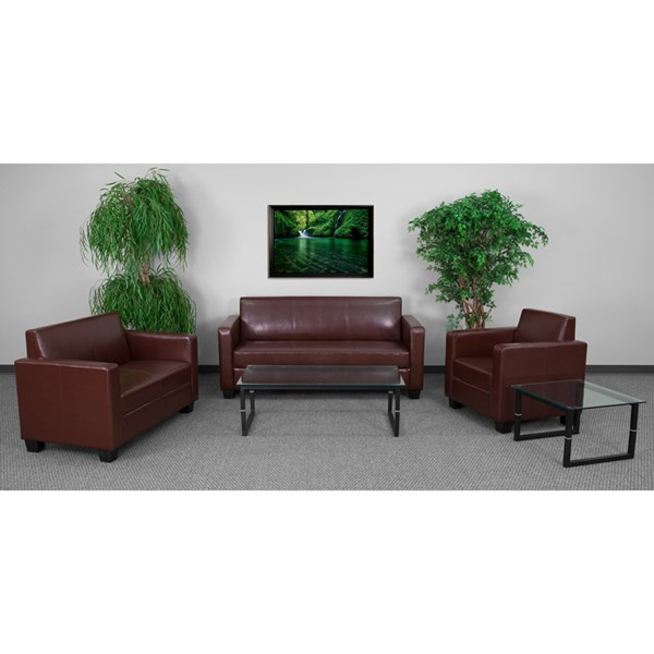 Grand Series FedeExable Brown 3pc Living Room Set FLF-Y-H902-BN-LEA-GG-LR-S1
