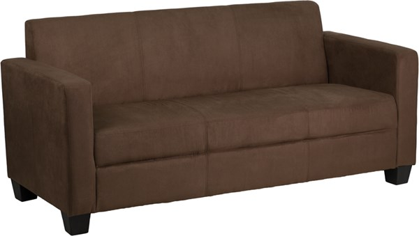 Grand Series FedExable Chocolate Brown Microfiber Sofa FLF-Y-H902-3-CHOC-BN-GG