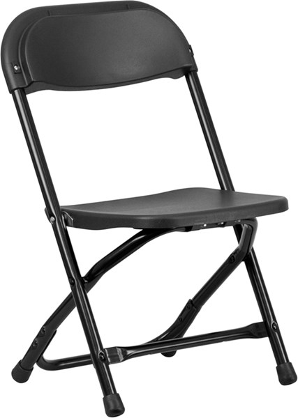 Flash Furniture Black Metal Plastic Kids Folding Chair FLF-Y-KID-BK-GG