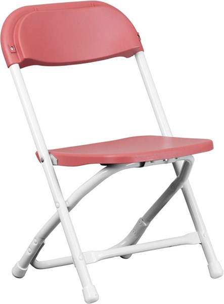 Flash Furniture Burgundy White Metal Plastic Kids Folding Chair FLF-Y-KID-BY-GG