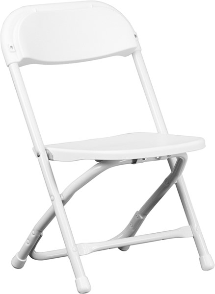 Flash Furniture White Metal Plastic Solid Back Kids Folding Chair FLF-Y-KID-WH-GG