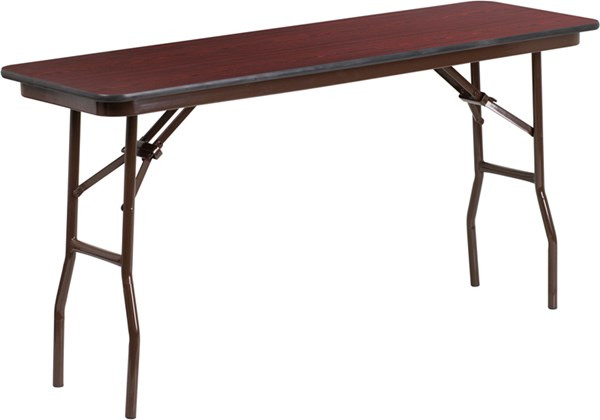 Flash Furniture 18 X 60 High Pressure Mahogany Laminate Folding Training Table FLF-YT-1860-HIGH-WAL-GG